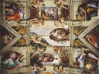 Ceiling of the Sistine Chapel (1508-12)
